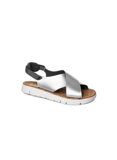 Camper Deri Sandalet Füme